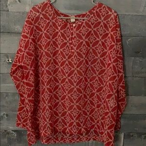 Red Sheer Layering Tunic
